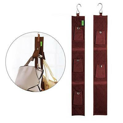 Handbag Bag Storage Hanging Purse Rack Organizer Holder Shelf Hanger Coffee BA