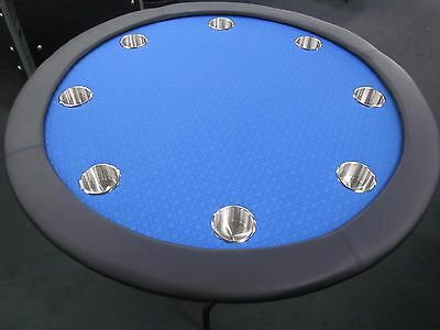 "52"" Round Professional Poker Table  +  Foldable  Leg [Blue]  + 2 Cards + Cover"