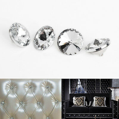 100x Diamante Wall Decorate Crystal Upholstery Sofa Headboard Sew Buttons Nails