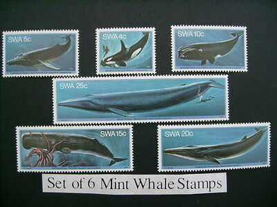 S.w.africa 1980 Set Of Six Whale Stamps U/m/mint Sg338/43