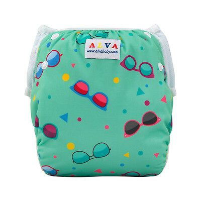 Alva Baby Boy Swim Diaper Reusable Cover With Snaps Training Pant For Summer
