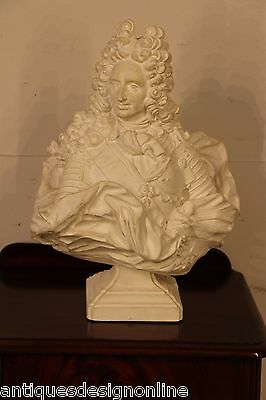 French bust of King Louis XIV beautifully cast plaster after original antique