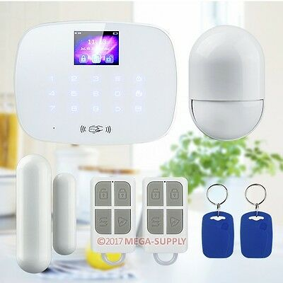 LCD Wireless GSM SMS Autodial Home House Office Security Burglar Intruder Alarm