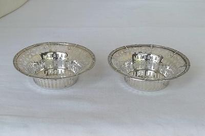 A Fine Antique Pair Of Solid Sterling Silver Edwardian Bon Bon Dishes Dates 1906