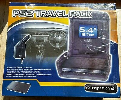PLAYSTATION 2 PS2 SLIM PORTABLE 5.4 inch LCD SCREEN TRAVEL CASE CAR CHARGER NEW