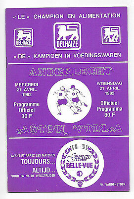 1982 European Cup Semi Final 2nd Leg - ANDERLECHT v. ASTON VILLA