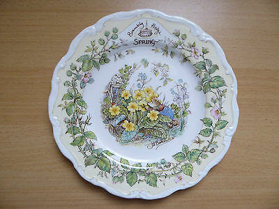 "Brambly Hedge  Wall Plate  'SPRING'  8"" (20cm) Royal Doulton"