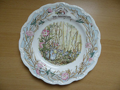 "Royal Doulton Brambly Hedge  Wall Plate  PRIMROSE'S THE ADVENTURE  8"" (20cm)"