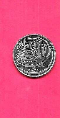 CAYMAN ISLANDS KM89a 1992 UNC-UNCIRCULATED 10 CENTS OLD TURTLE ANIMAL COIN