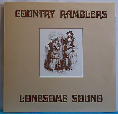 COUNTRY RAMBLERS Lonesome Sound - Orig Swiss LP - Private Bluegrass Folk Country