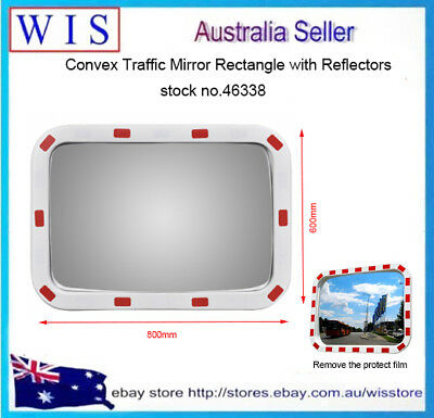 "24"" x 32"" Red and White Safety Mirror,Rectangular,Outdoo and Indoor,Polycarbonae"