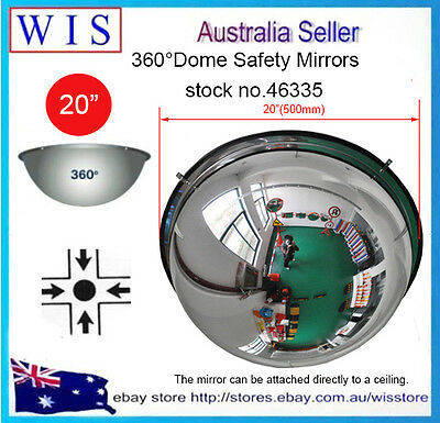 """360° Full Dome Safety Mirror,20"""" Acrylic Ceilging Dome Mirror,4-way Intersection"""