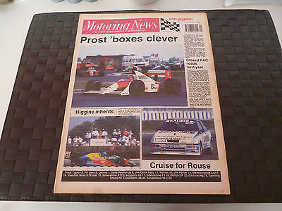 Motoring News 19 July 1989 Alain Prost British Gp,derek Higgins,andy Rouse