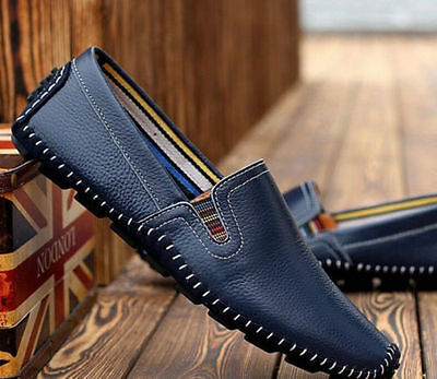 NEW Men's Driving Moccasin Loafer Casual Comfy Breathable Leather Shoes-45#
