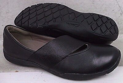 NEW Clarks Collection Womens Vailee Pine Black Leather Flats Shoes 05834 sz 7 M