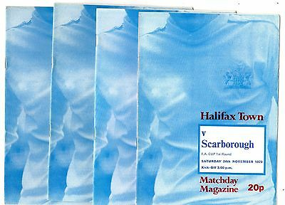 1979-1980 Halifax Town  Home Programmes - select the one you want POST FREE