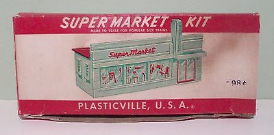 Vintage Plasticville Supermarket Kit  SM-7 With Box O Scale