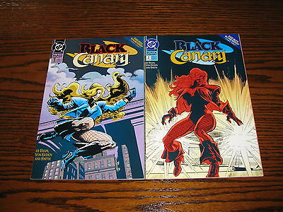 DC Comics - BLACK CANARY #1 and #2 Comics!!  1993  VF/VF+ Green Arrow