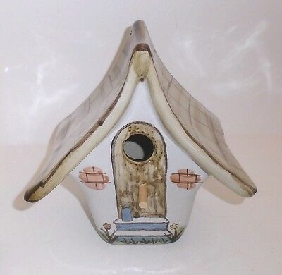 Contemporary Louisville Stoneware Hand Painted Bird House  Made in Kentucky