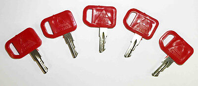 (5) John Deere (JD), Multiquip, and Indak Equipment Ignition Starter Keys-#37