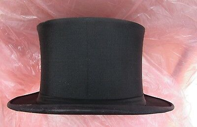 Top Hat Black 1910-1930 Austin Reed Original Box Excellent Large Size 6, 7/8