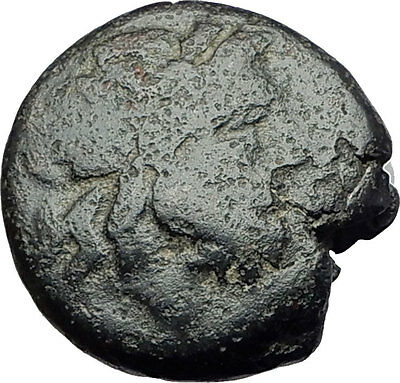THESSALONICA in Macedonia 1stCenBC Authentic Ancient Greek Coin ZEUS BULL i62255