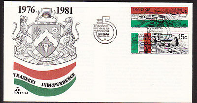 Transkei 1981 - 5 Years Independence First Day Cover.- Unaddressed