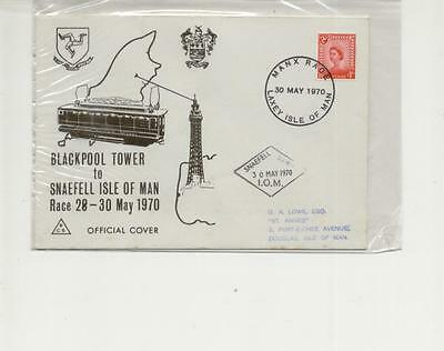 Isle of Man 1970 Blackpool Tower to Snaefell Race Official Cover