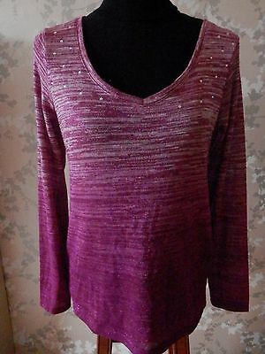 Pink Long Sleeved Jumper Size 10 VGC