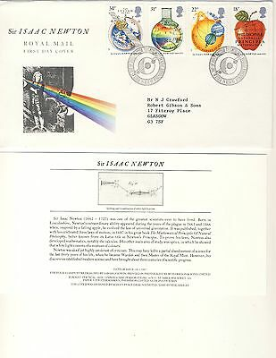 1987 - Sir Isaac Newton - 300th Anniv of Mathematica - First Day Cover - #039