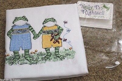 Kelly Rightsell Petite Playmate Embroidered Window Valance Frog Bunny Monkey NEW