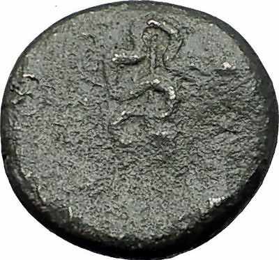 PERGAMON in Mysia 150BC Ancient Greek Coin ASCLEPIUS Medicine SNAKE STAFF i62261