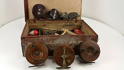 Selection of old Vintage Fishing Reels and other assorted fishing bits  Free P&P