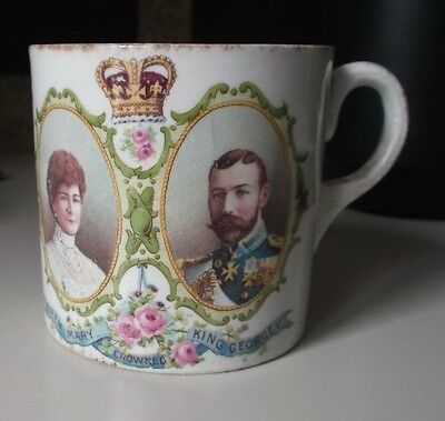 Commemorative Mug 1913 – Visit To Stoke-On-Trent – King George V Queen Mary.