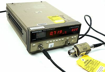Boonton 4220-S/3 RF Power Meter with 51100 Sensor 10Mhz-18GHz in Case Calibrated