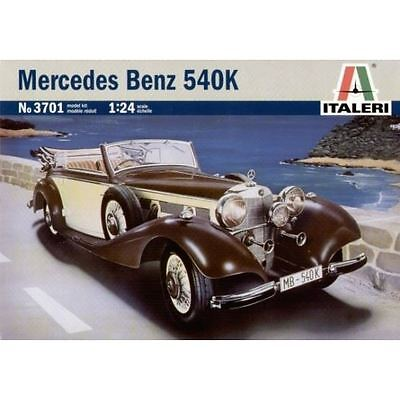 Italeri Plastic Model Kit - Mercedes Benz 540k Car - 1:24 Scale - 3701 - New