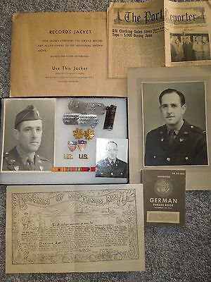 WWII - 1950's US Army Adjutant General Officer Named Dog Tag Ribbon Photo Group