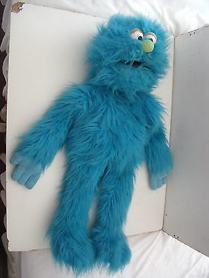 "SILLY PUPPETS LARGE 24"" blue MONSTER  HAND GLOVE PUPPET - MUPPET"