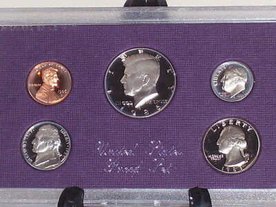 United States 1986 Uncirculated Proof Coin Set Mint in Package