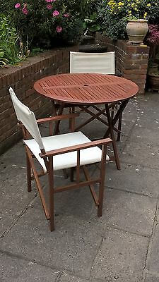 Folding Wooden Table C/W 4 x Folding Chairs
