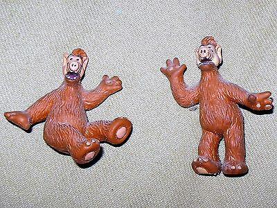 "1988 2 Vintage Russ ALF Alien Rubber Collectible Toys, 2"" and 2.5""  New"