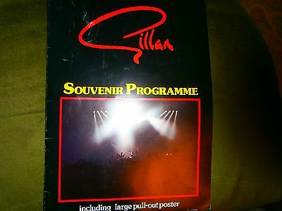 Gillan Tour Programme With Poster-Uk Issue 1982