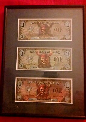 2007 Series Disney Dollars Pirates Of The Caribbean Matched # Set Framed # 988