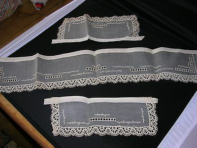 Antique & Never Used Cuffs and lacy collar for a Vintage Dress
