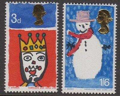 1966 Christmas  Children's  Paintings Set  Sg 713-714   Unmounted Mint