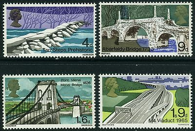 1968  British  Bridges Set  Sg 763-766  Unmounted Mint