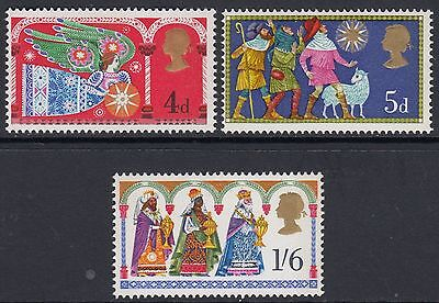 1969  Christmas  Set - Angel, Shepherds, 3 Kings  Sg 812-814   Unmounted Mint