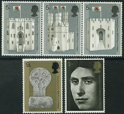 1969  Prince Of Wales  Investiture Set   Sg 802 -  806  Unmounted Mint
