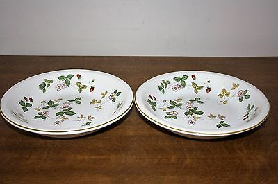 """Nice Pair Of Wedgwood """"Wild Strawberry""""  English Earthenware Bowls"""
