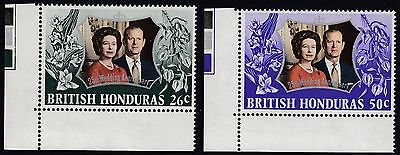 British  Honduras 1972  Silver Wedding Set Sg 341 - 342   Unmounted Mint